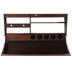 Wall-Mounted Rosewood Bar By Drylund