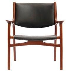 Oxhide Teak Lounge Chair by Hans J. Wegner