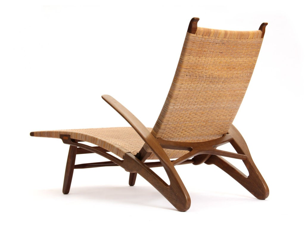 the dolphin chaise by hans wegner at 1stdibs. Black Bedroom Furniture Sets. Home Design Ideas