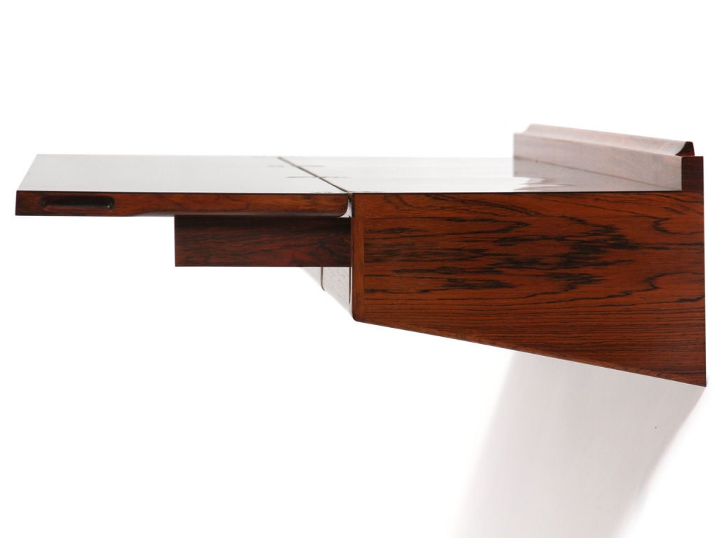 wall mount console desk by hovmand olsen at 1stdibs. Black Bedroom Furniture Sets. Home Design Ideas