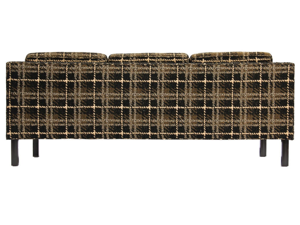 plaid sofa by edward wormley for sale at 1stdibs. Black Bedroom Furniture Sets. Home Design Ideas