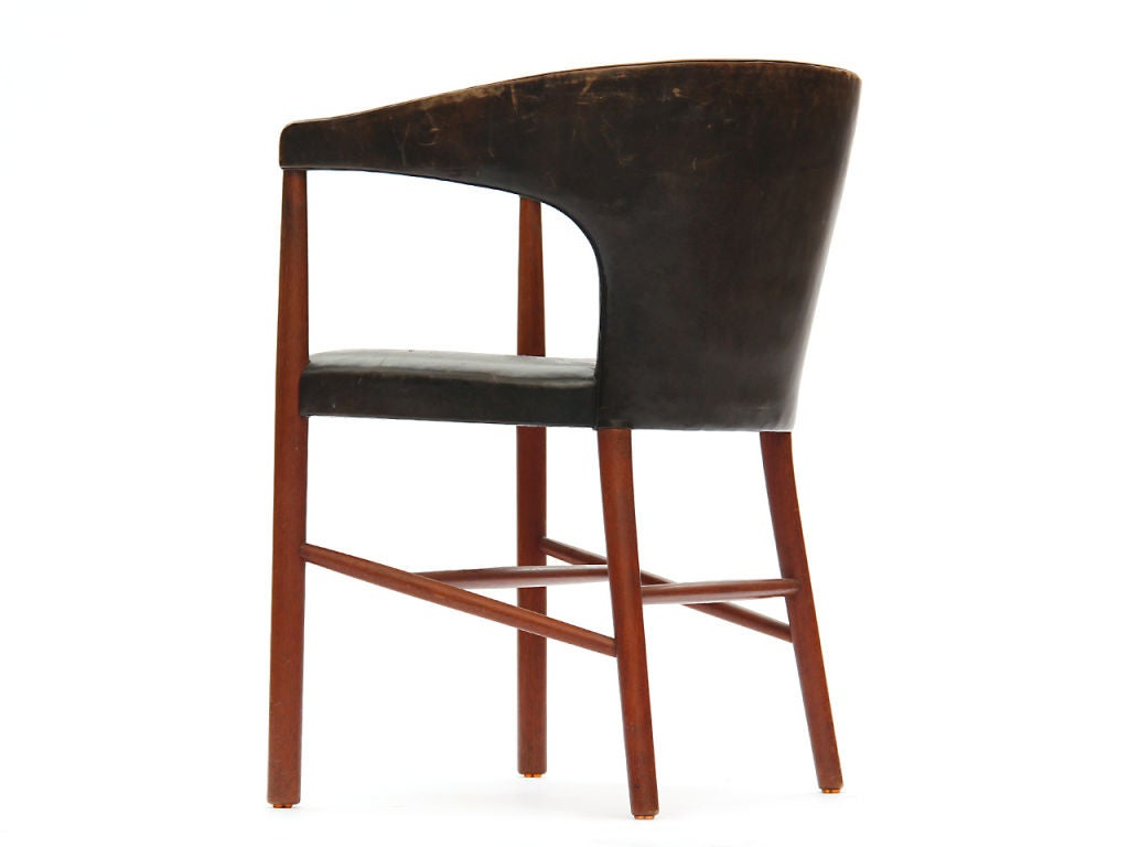 Leather B-48 Chair by Jacob Kjaer For Sale