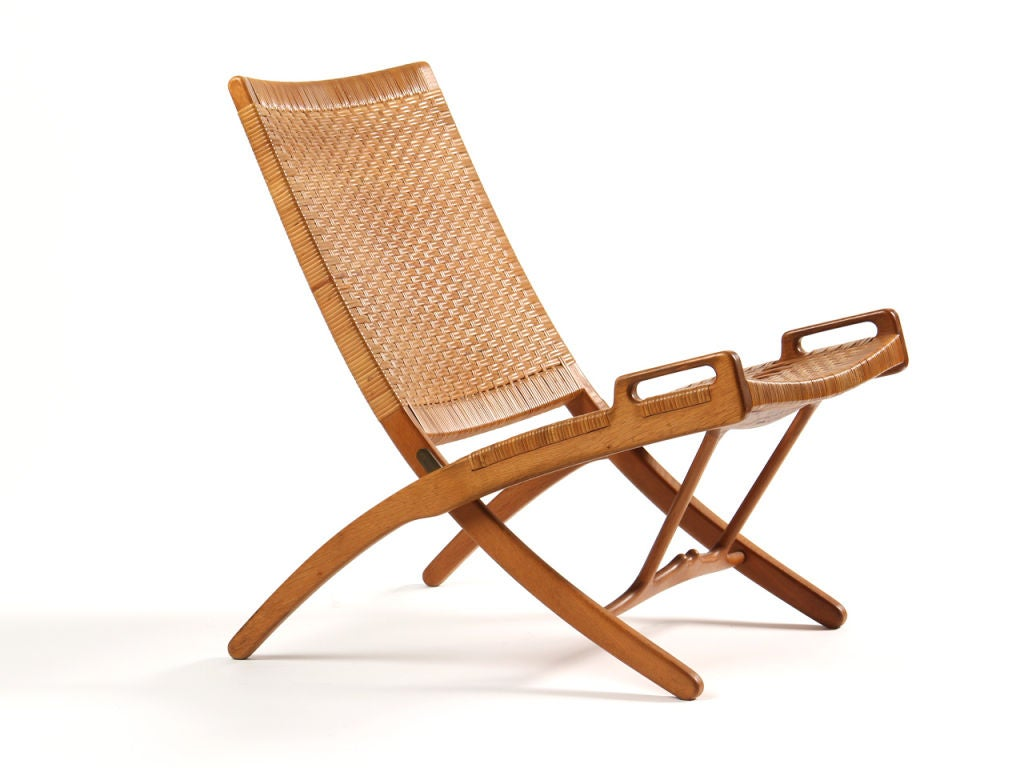 folding chair by hans wegner for sale at 1stdibs. Black Bedroom Furniture Sets. Home Design Ideas