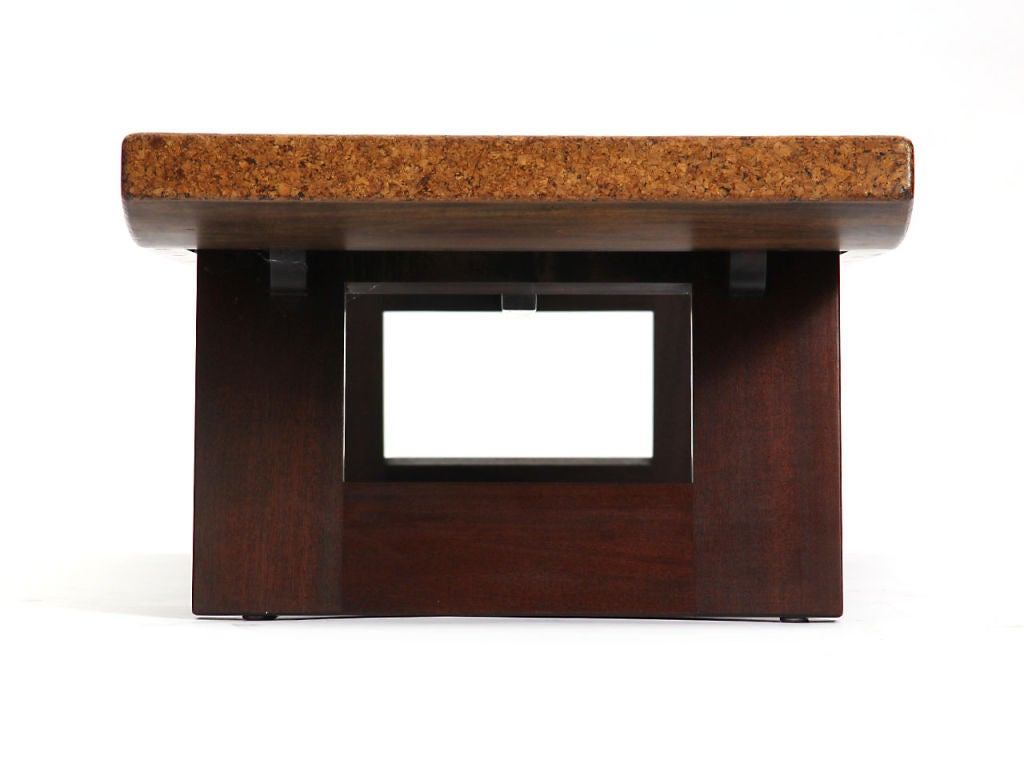 Mid-Century Modern Cork Low Table by Paul Frankl For Sale