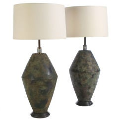 Bronze Table Lamps by Damon Giffard