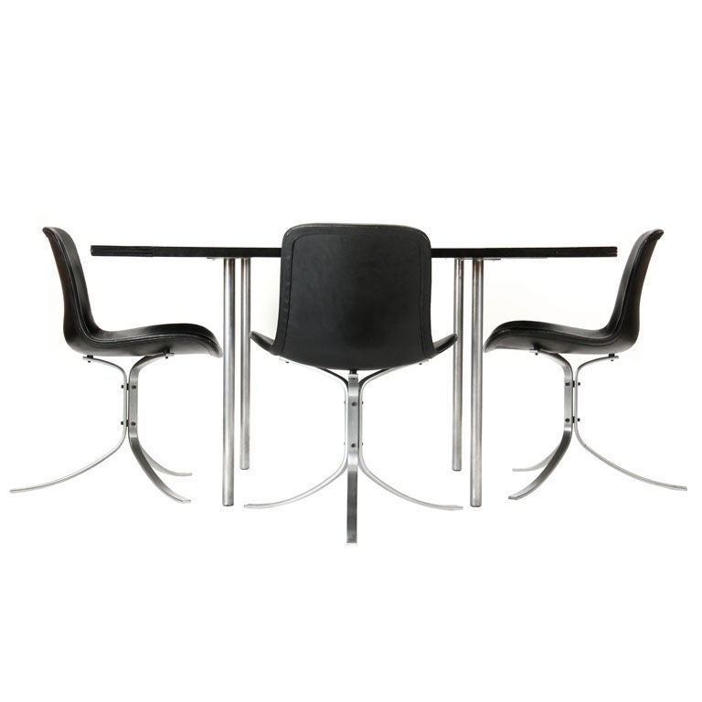Dining Table with Leaves by Poul Kjaerholm