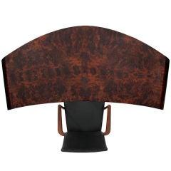 Arc burled desk by Vladimir Kagan