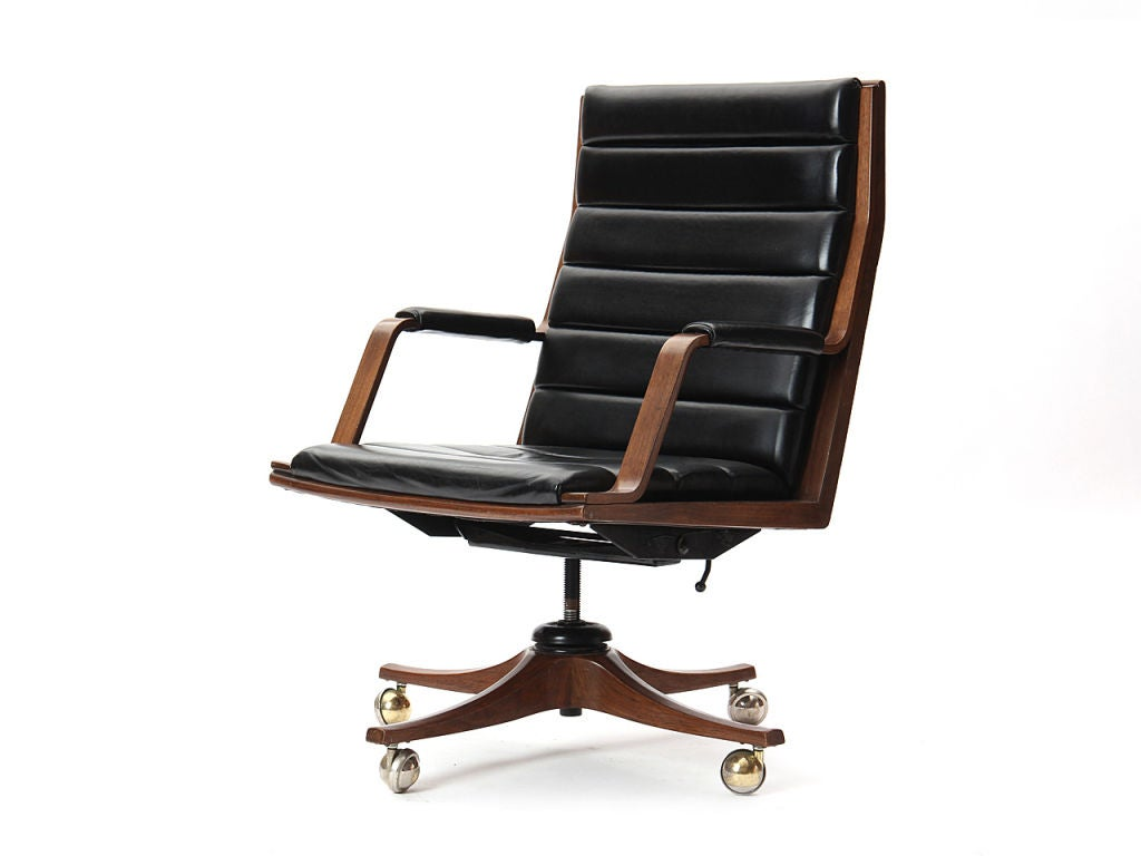 Executive desk chair by edward wormley at 1stdibs - Edward wormley chairs ...