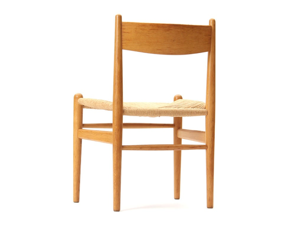 Oak and Papercord Chairs by Hans Wegner In Good Condition For Sale In Sagaponack, NY