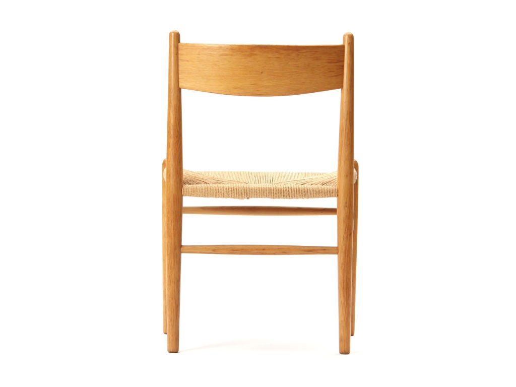 Mid-20th Century Oak and Papercord Chairs by Hans Wegner For Sale