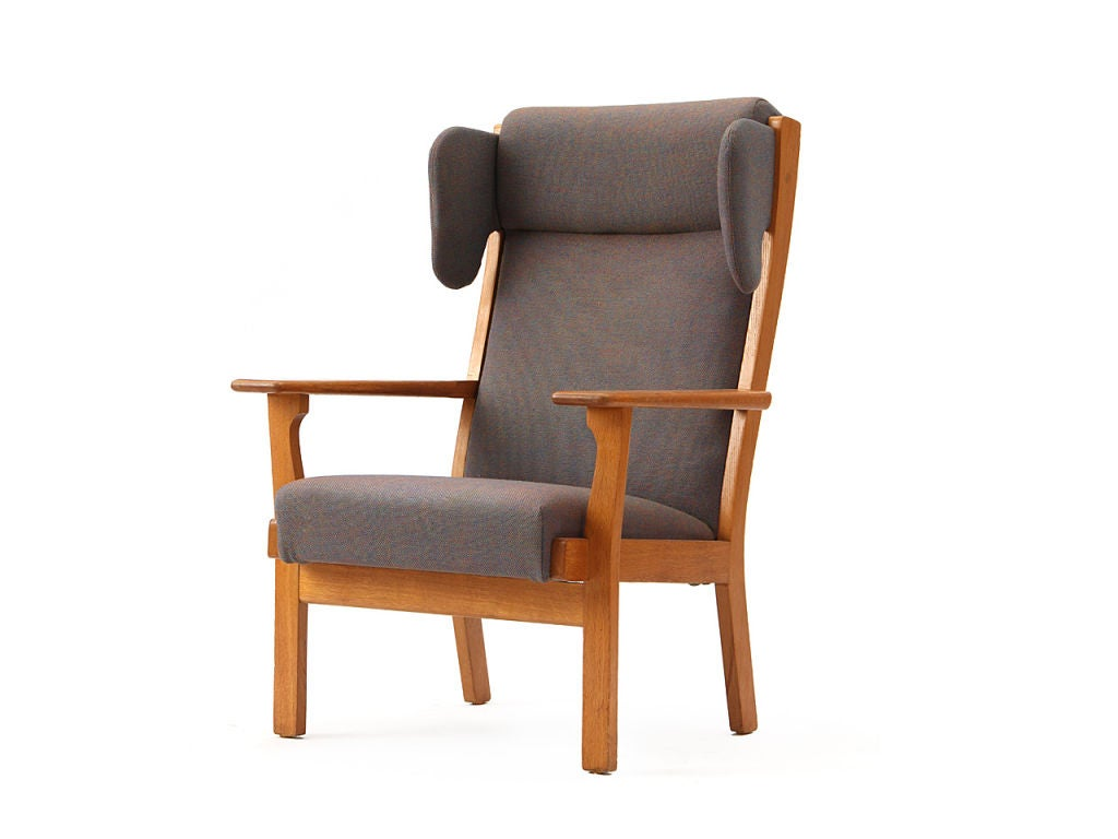 Scandinavian Modern Wingback Armchair by Hans Wegner For Sale