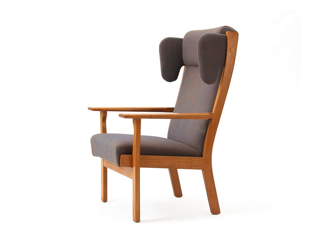 Danish Wingback Armchair by Hans Wegner For Sale