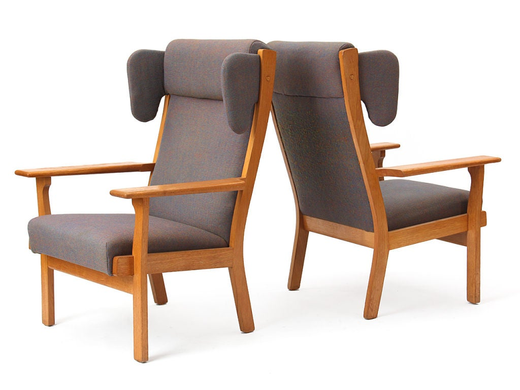 Late 20th Century Wingback Armchair by Hans Wegner For Sale