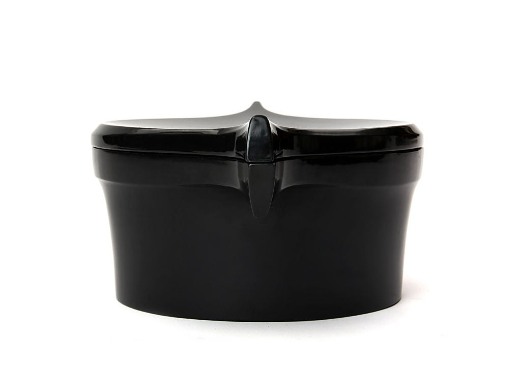 Scandinavian Modern Charcoal Lacquered Box by Jens Quistgaard For Sale