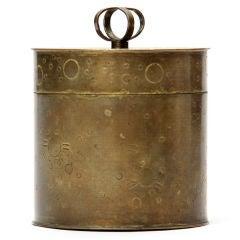 brass canister by Hayno Focken