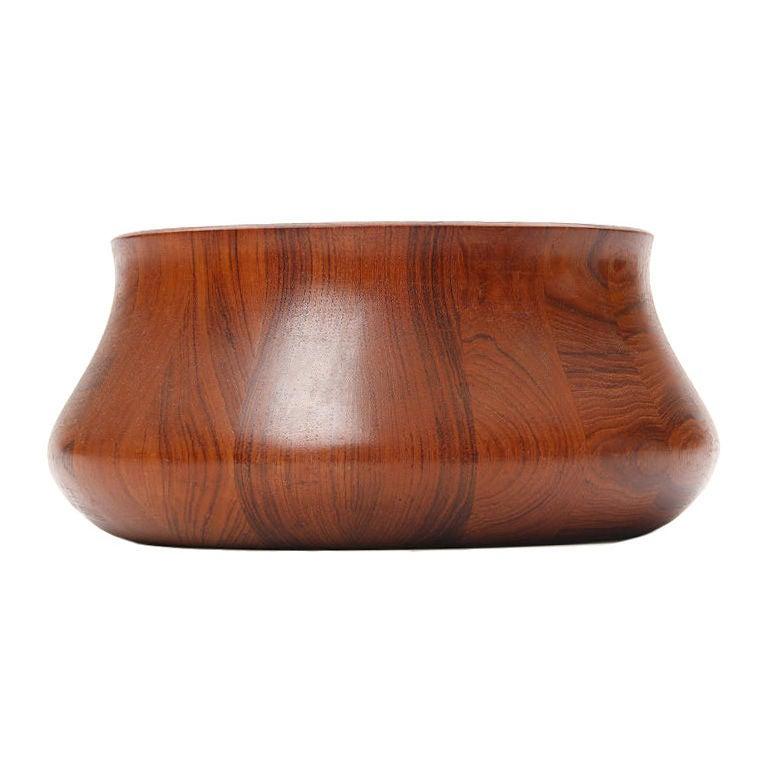 A Large Teak Serving Bowl by Henning Koppel