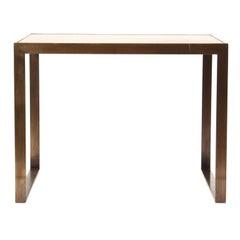 Brass Framed Rosewood Side Table by Roger Sprunger for Dunbar