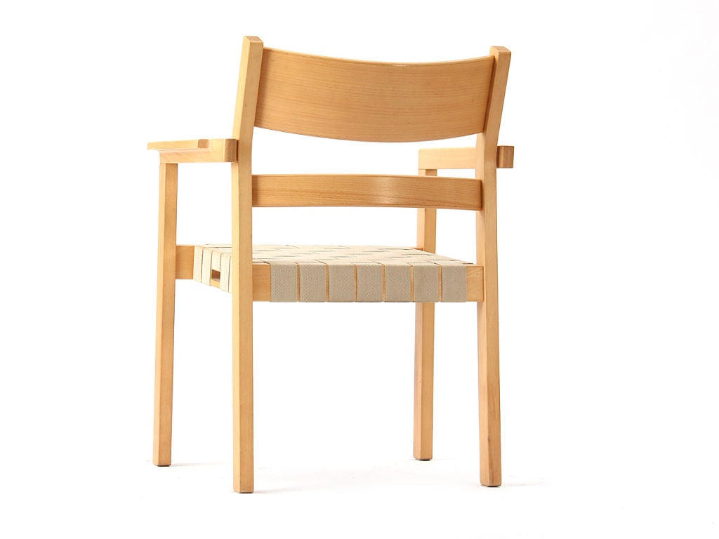 Set of Four Stacking Armchairs by Hans Wegner & Johannes Hansen In Good Condition For Sale In New York, NY