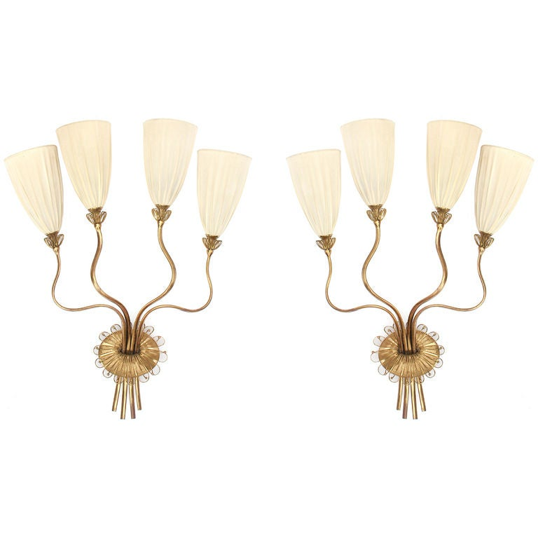 Pair of Wall Sconces by Paavo Tynell