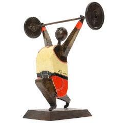 Weight Lifter Sculpture by Felguerez