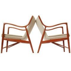 Pair Of 45 Chairs By Finn Juhl