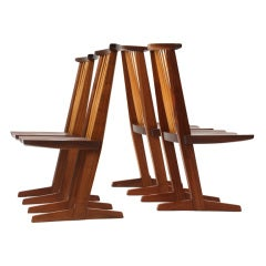Conoid Dining Chairs By George Nakashima