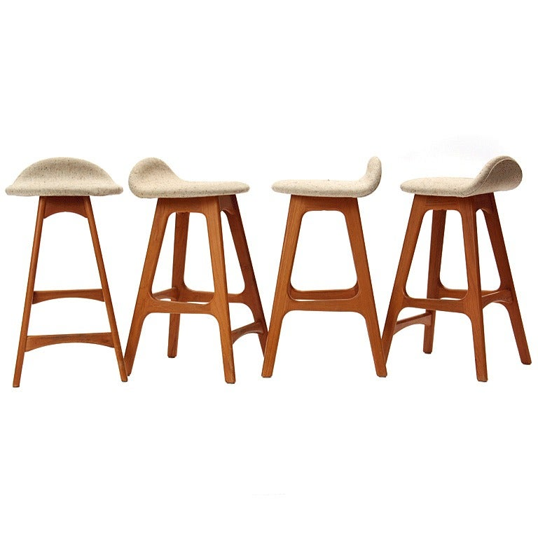 Set Of Four Stools By Erik Buck At 1stdibs