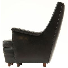 black leather easy chair by Lysberg, Hansen & Therp