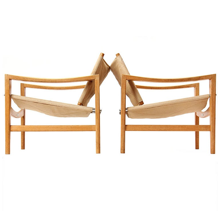 Safari chairs by Hans J. Wegner 1