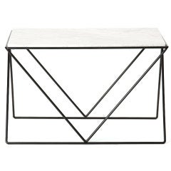 Wrought Iron and Marble End Table by Darrell Landrum