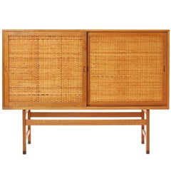 Caned High Cabinet by Hans J. Wegner