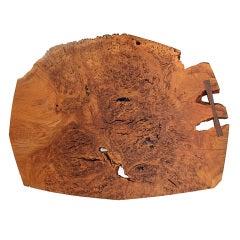 Burled Oak Table by Nakashima