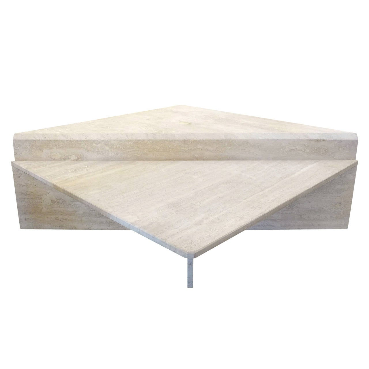 Two-Piece Modular Travertine Coffee Table at 1stdibs