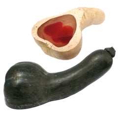 Cast Resin Gourd Phallus Sculptures
