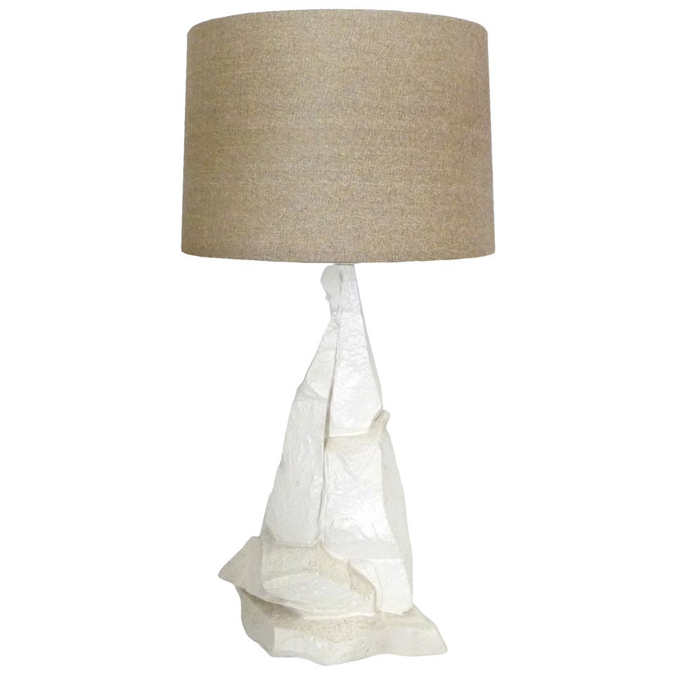 Faux rock table lamp at 1stdibs for Rock lamp