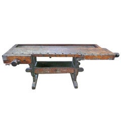 Exceptional Early 20th Century Primitive Workbench