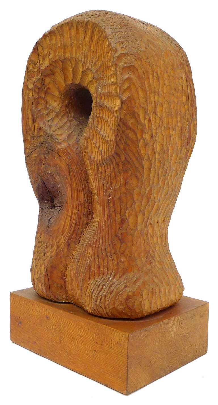 Unusual biomorphic chip carved wood sculpture at stdibs