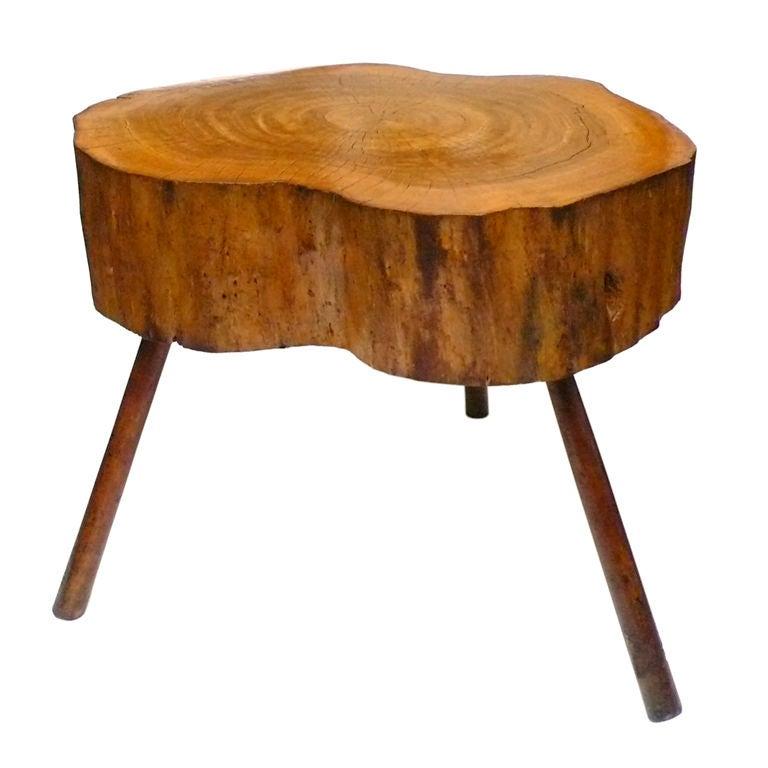 wood tree stump table at 1stdibs home design idea