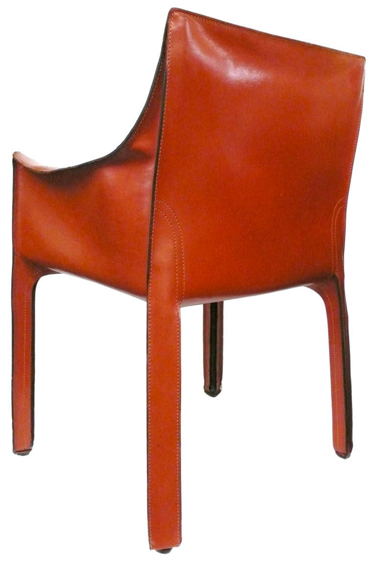 Set Of Four Vintage Cab Chairs By Mario Bellini For