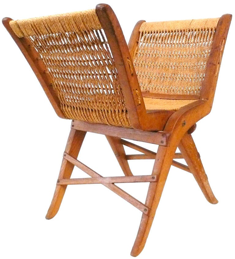 Italian Folding Stool With Rushed Seat At 1stdibs