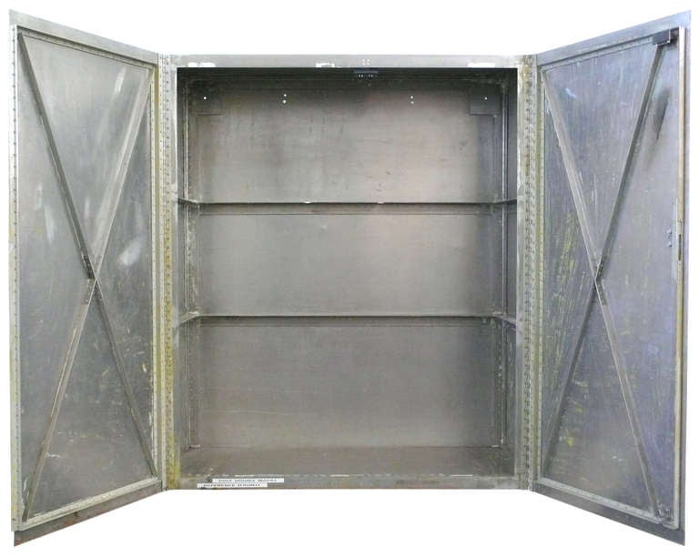 american custom made hand riveted aluminum industrial storage cabinet for sale - Industrial Storage Cabinets
