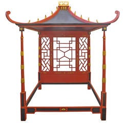 Chinoiserie Pagoda Canopy Bed