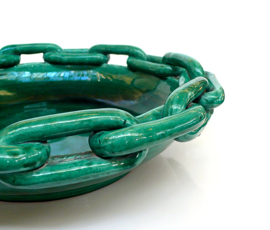 Vallauris Ceramic Chain Bowl At 1stdibs