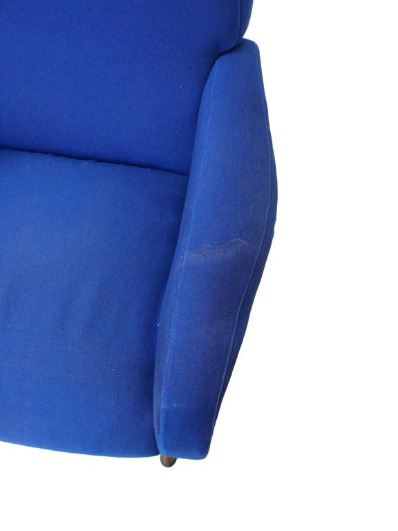 Pair of Blue Lady Chairs by Marco Zanuso image 7