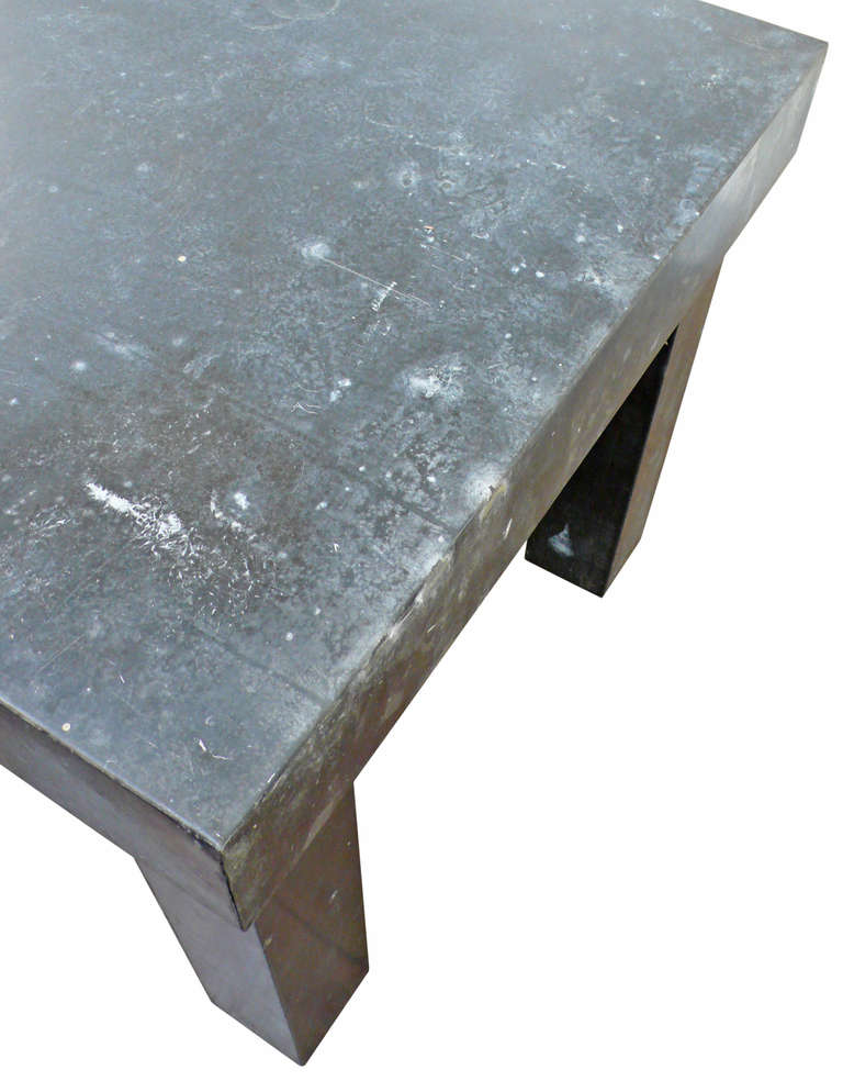 galvanized metal modernist dining table at 1stdibs