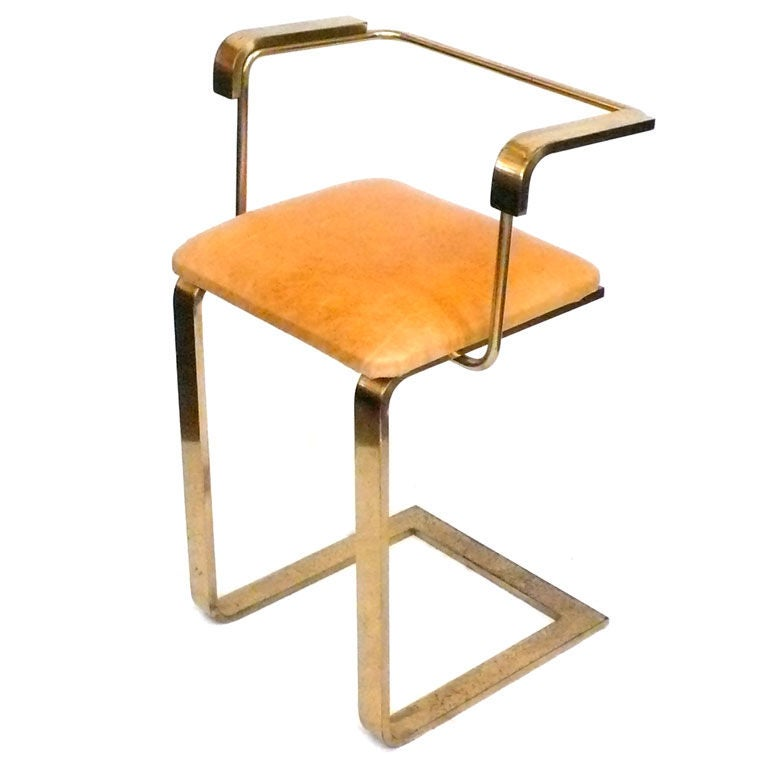 Brass and Leather Stool with Arms at 1stdibs : XXX890413052456831 from www.1stdibs.com size 768 x 768 jpeg 34kB