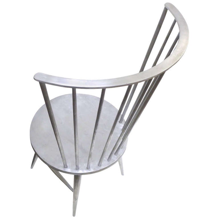 Solid Aluminum Windsor Chair Attributed To John Vesey For