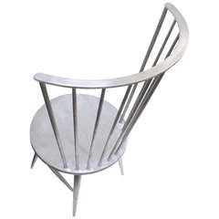 Solid Aluminum Windsor Chair Attributed to John Vesey