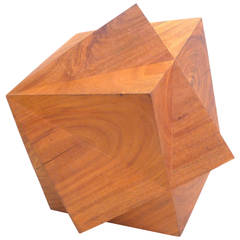 Large Geometric Chip-Carved Sculpture by Aleph Geddis