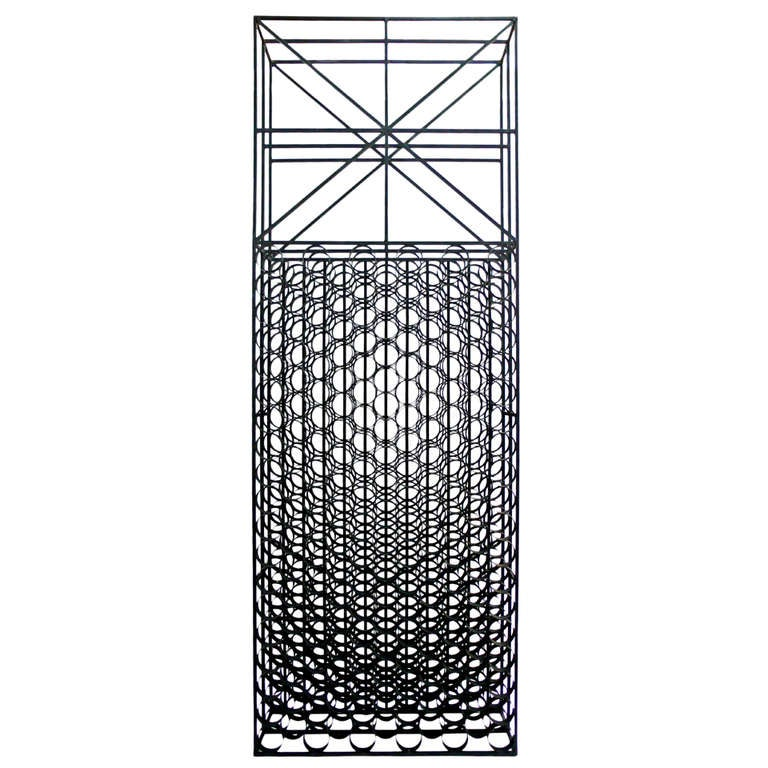 Monumental Iron Wine Rack Room Divider At 1stdibs